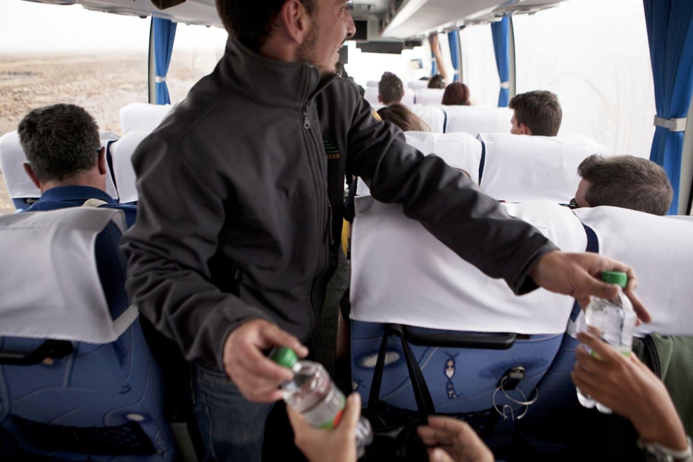 Snacks a bordo para nuestros pasajeros.